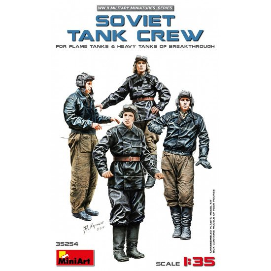 MINIART 35254 - SOVIET TANK CREW FOR FLAME HEAVY TANKS PLASTIC KIT 1/35 SCALE