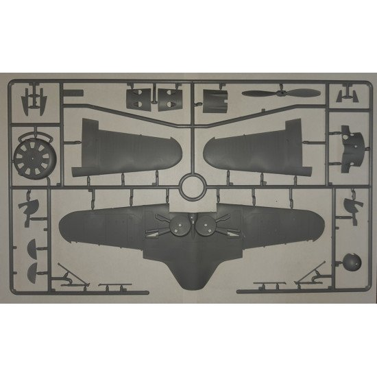 PLASTIC MODEL BUILDING KIT WWII SOVIET FIGHTER I-16 type 29 1/32 ICM 32003