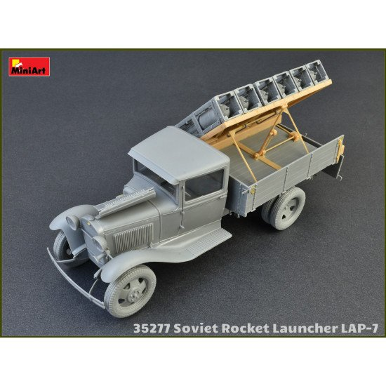 Military miniatures of World War II SOVIET ROCKET INSTALLATION LAP-7 1/35 MINIART 35277