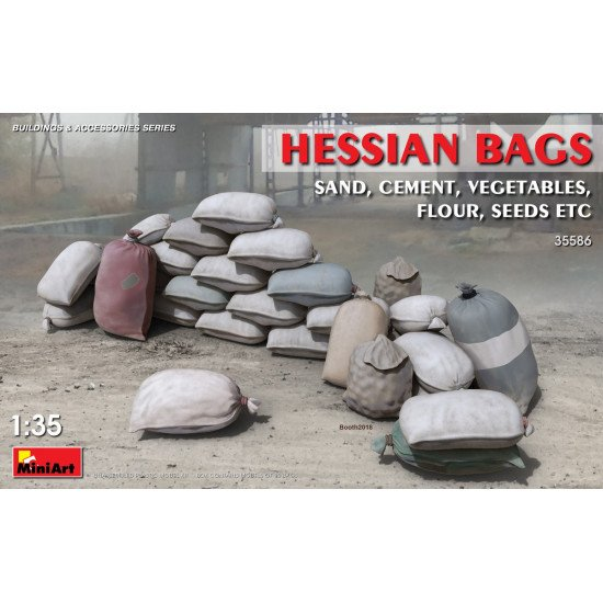 ACCESSORIES FOR BUILDINGS - PLASTIC MODEL KIT HESSIAN BAGS SCALE 1/35 MINIART 35586
