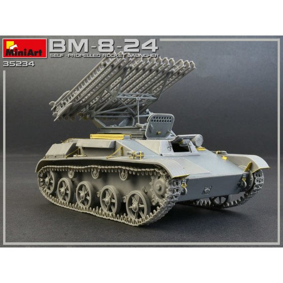 MINIART 35234 1/35 SCALE MODEL SOVIET KBM-8-24 SELF-PROPELLED ROCKET LAUNCHER