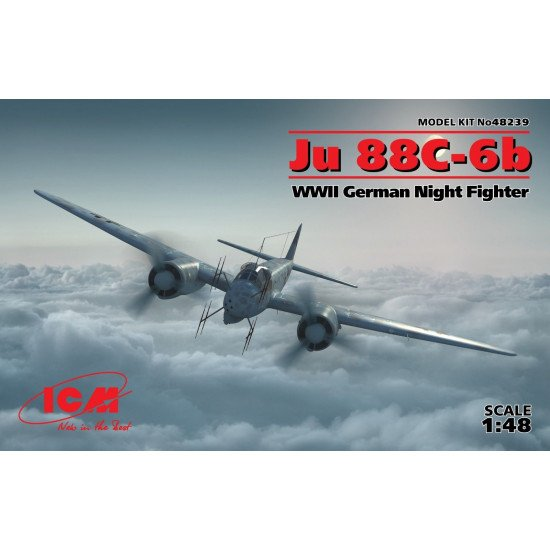 ICM 48239 - Ju 88C-6b WWII German Night Fighter 1/48 scale model kit 300 mm