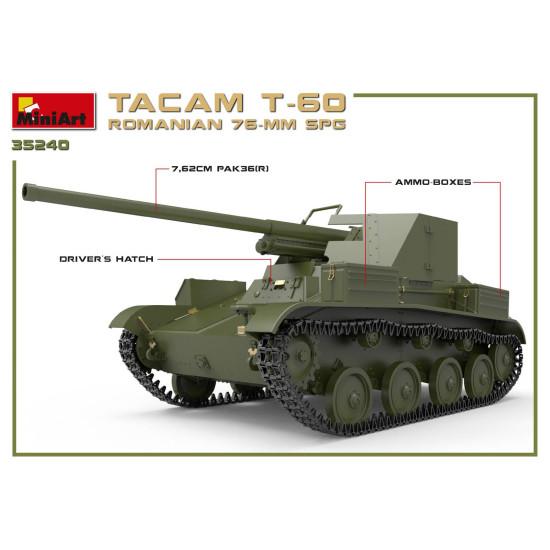 Miniart 35240 - ROMANIAN 76-mm SPG TACAM T-60 INTERIOR KIT World War II 1/35