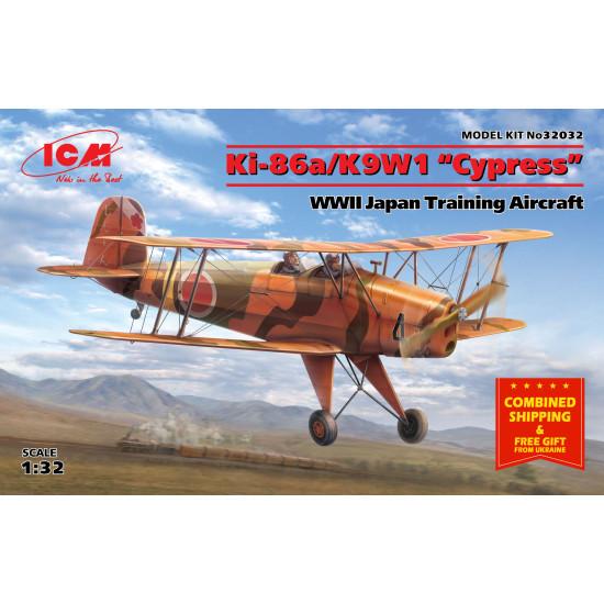 """KI-86A/K9W1 """"CYPRESS"""", WWII JAPAN TRAINING AIRCRAT 1/32 SCALE ICM 32032"""