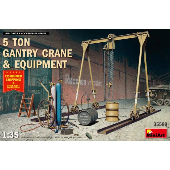MINIART 35589 5 TON GANTRY CRANE and EQUIPMENT 1/35 scale plastic model kit