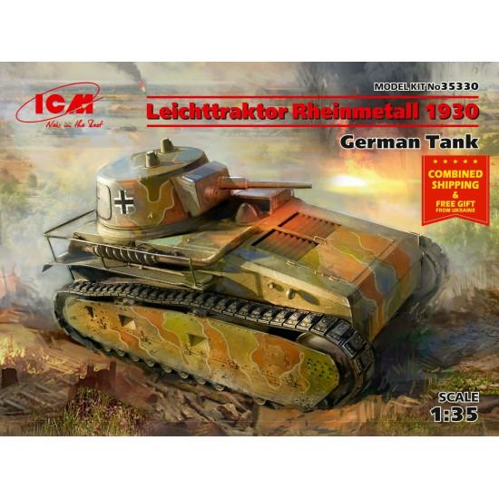 LEICHTTRAKTOR RHEINMETALL 1930, GERMAN TANK 1930s 1/35 ICM 35330