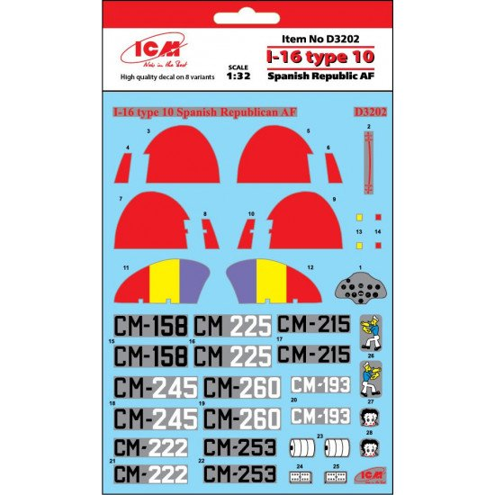 DECAL FOR SOVIET INTERCEPTOR AND FIGHTER AIRCRAFT YAK-9 1/72 scale Foxbot 72-001