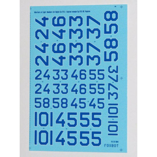 DECAL FOR NUMBERS FOR SUKHOI SU-27S UKRANIAN AIR FORCES 1/32 Scale Foxbot 32-004