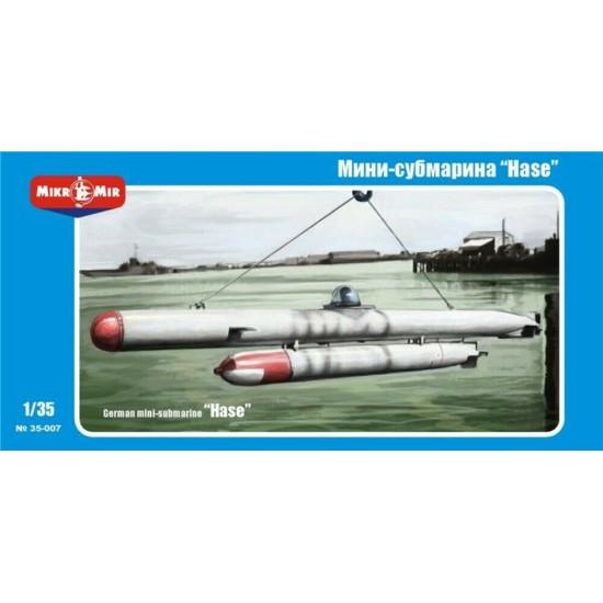 Micro Mir 35-007 - 1/35 'Hase' German Mini-submarine, scale model kit