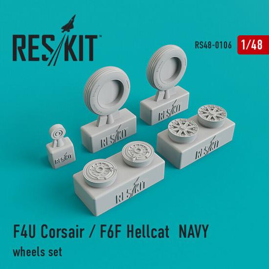 F4U Corsair / F6F Hellcat NAVY wheels set 1/48 Reskit RS48-0106