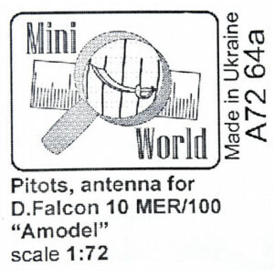 """ANTENNAS FOR FALCON-10MER """"AMODEL"""" PLASTIC MODEL KIT 1/72 MINI WORLD"""