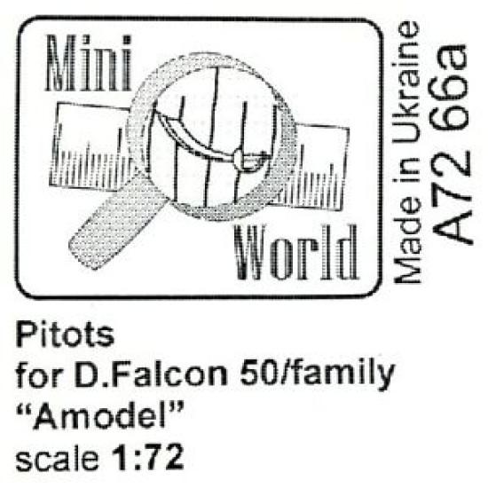 "ANTENNAS FOR D.FALCON 50 FAMILY ""AMODEL"" MODEL KIT 1/72 MINI WORLD 7266A"