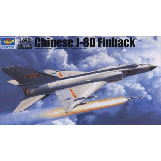 CHINESE AIRCRAFT J-8IID SCALE MODEL KIT 1/48 TRUMPETER 02846