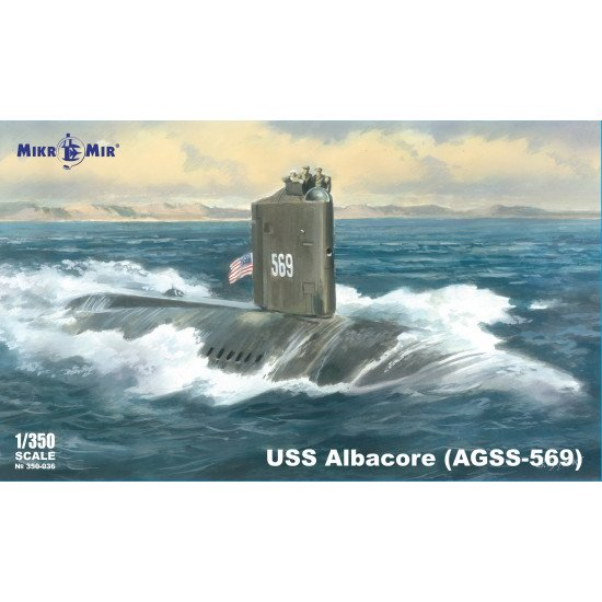 Micro-mir 350-036 - 1/350 MM 350-036 USS Albacore, scale plastic model kit