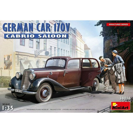 Miniart 38016 - 1/35 German Car Type 170V Cabrio Salon Miniatures Plastic Kit