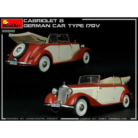 Miniart 38018 - 1/35 German Car Type 170V 2-Door Cabriolet Miniatures Plastic Kit