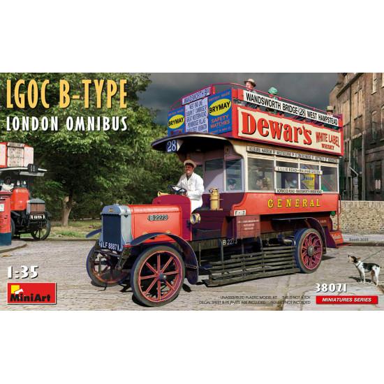 Miniart 38021 - 1/35 LGOC B-Type London Omnibus Plastic Model