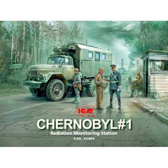 ICM 35901 - 1/35 Chernobyl 1. Radiation Monitoring Station scale model kit