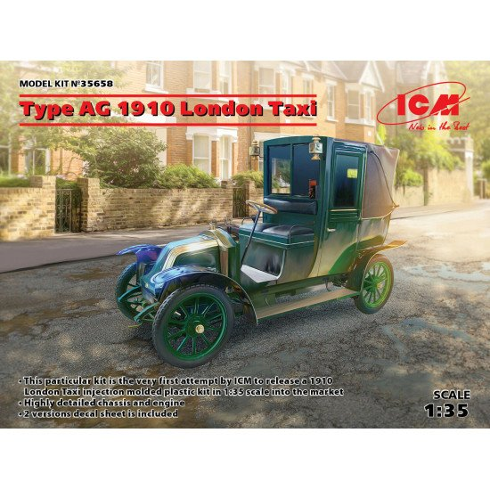 ICM 35658 - 1/35 Type AG 1910 London Taxi 1905-1914 Plastic model taxi