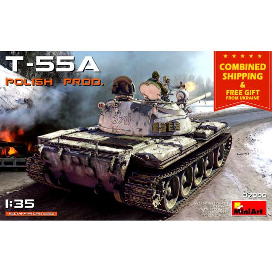 Miniart 37090 - 1/35 WW II T-55A Polish Production Scale Kit