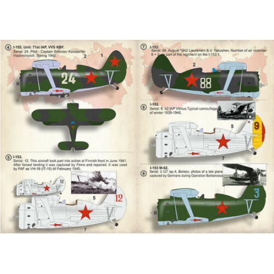 "Print Scale 32-025 - 1/32 - Polikarpov I-153 ""Chaika"" Part 1, decal for aircraft"