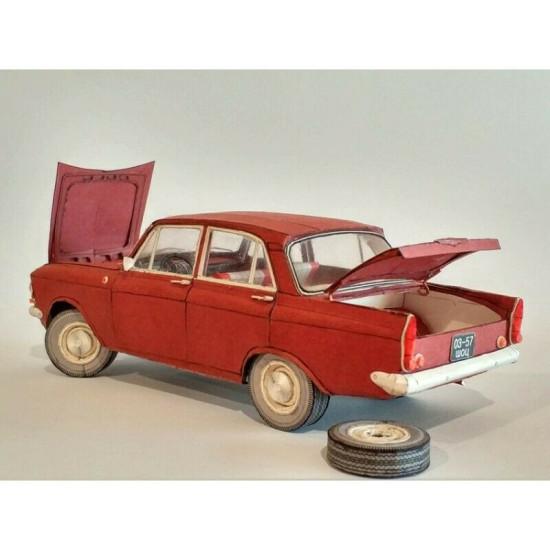 Model Kit Car Moskvich-408 1/25 Orel 268 Civil Engineering, USSR, 196