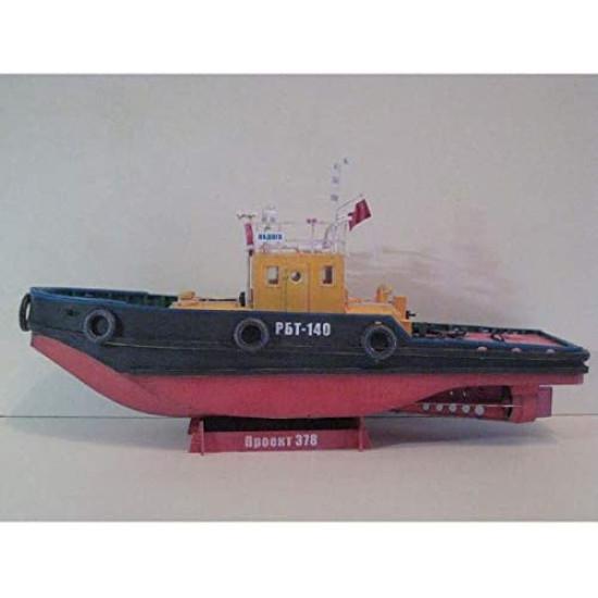 Paper Model Kit  Raid tug of project 378 RBT-140 Ladoga 1/50 Orel 287 Civil Fleet USSR, 1955