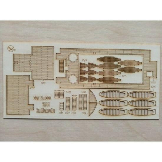 "Wooden veneer decks for Orel 263/3 Armadillo ""Indianola"" 1/200 Navy, USA, 1862"