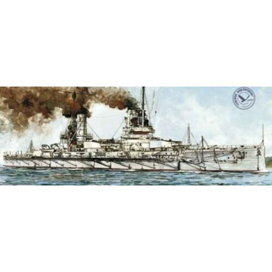 "Wooden veneer decks for Orel 274/3 Battleship ""Friedrich der Grosse"" 1/200 Navy, Germany, 1912"