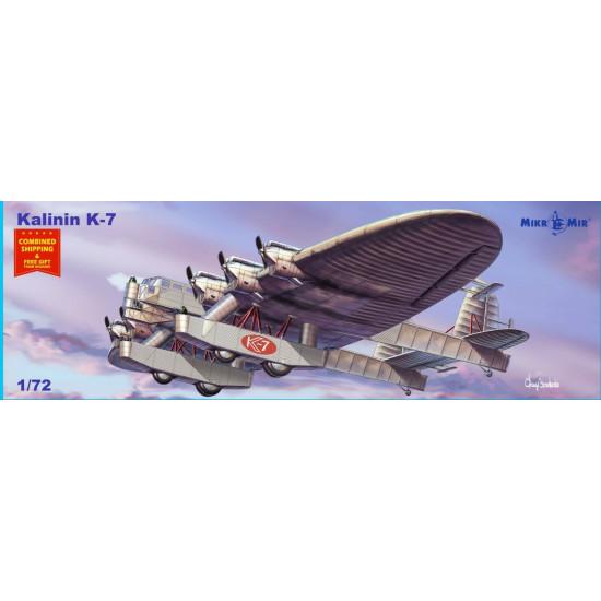 Mikro mir 72-015 - 1/72 - Kalinin K-7 Experimental multi-purpose aircraft 338 mm