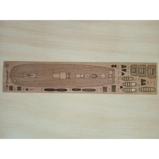 "Wooden veneer decks for Orel 289/3 Sloop ""Mirny"" 1/200 Navy, Russia, 1819"