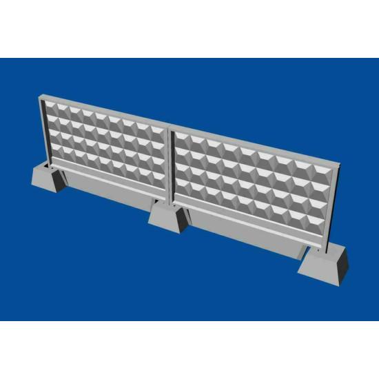 Bundle Metallic Details 1/144 MDR14405+MDR14406 Russian concrete fence P6V+P6Vm
