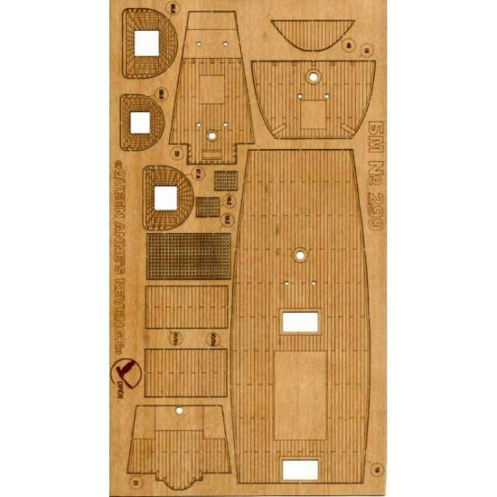 """Wooden veneer decks for Orel 299/3 Galleon """"Queen Anne"""
