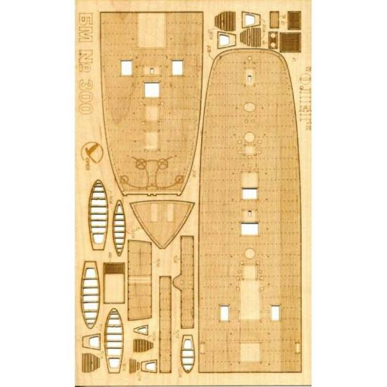 """Wooden veneer decks for Orel 300/3 Sailing-screw frigate """"Oleg"""" 1/200 Navy, Russia, 1860"""