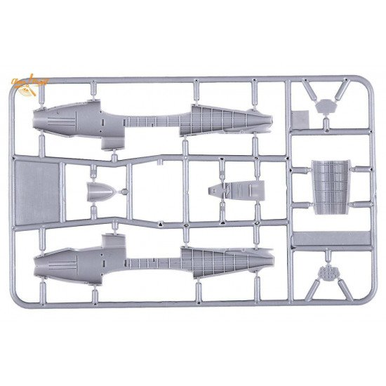 Clear Prop - Gloster E28/39 Pioneer CP72001, 1/72 scale model kit, Length 107 mm