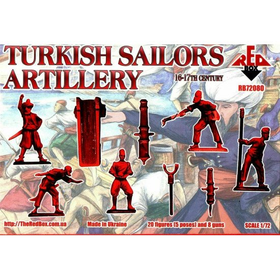 Bundle lot of Red Box Turkish Sailors 16-17 Century 72078+72079+72080 1/72 scale
