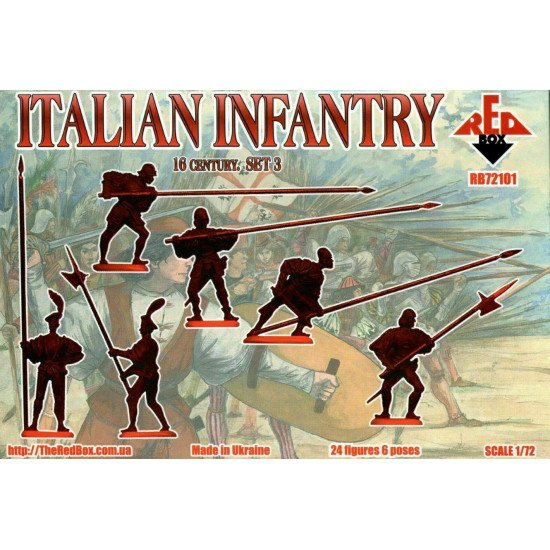 Bundle lot of Red Box Italian Infantry Set 1,2,3 72099+72100+72101 1/72 Scale
