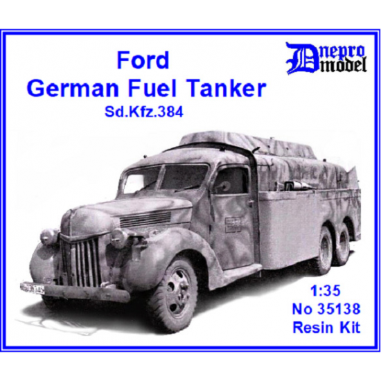 Dnepro Model DM35138 - 1/35, Ford Fuel Tanker Sd.Kfz.384 WWII, scale model kit