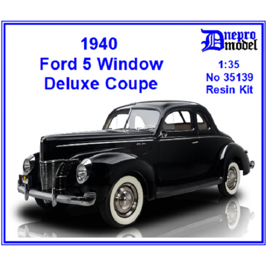 Dnepro Model DM35139 - 1/35, 1940 Ford 5 Window Deluxe Coupe, scale model kit