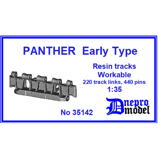 Dnepro Model DM35142 - 1/35 Panther Early type Workable resin track, scale model