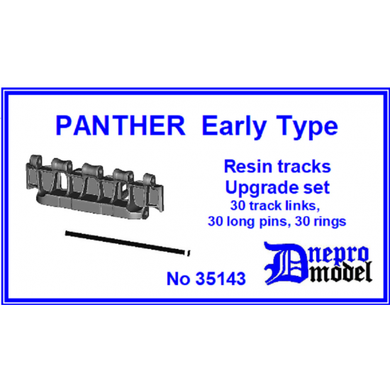 Dnepro Model DM35143 1/35 Panther Late type Resin track Upgrade set scale model