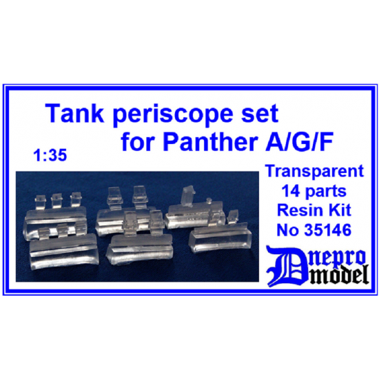 Dnepro Model DM35146 - 1/35 Tank periscope set for Panther A/G/F scale model kit