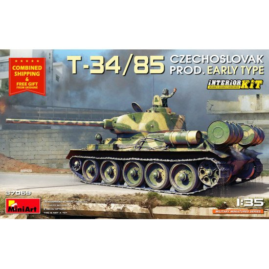 Miniart 37069 - 1/35 - T-34/85 CZECHOSLOVAK PROD. EARLY TYPE. INTERIOR KIT