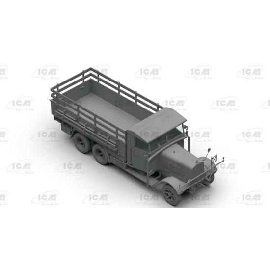 ICM DS3508 - 1/35 - Wehrmacht 3-axle Trucks Henschel 33D1, Krupp L3H163, LG3000