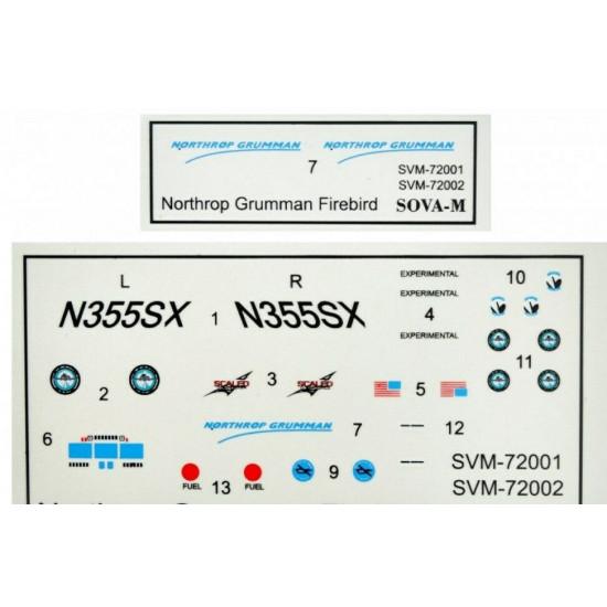 Sova Model SM72001 1/72 N.Grumman Fireberd OPV-1 scale model kit Length 145 mm