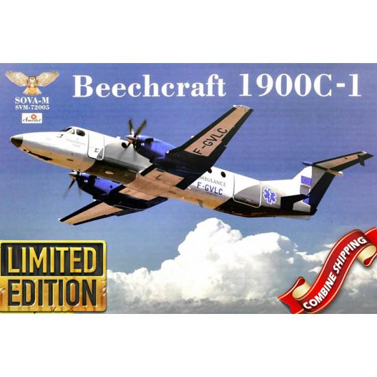 Sova Model SM72005 1/72 - Beech 1900C-1 scale model kit, Length 244 mm
