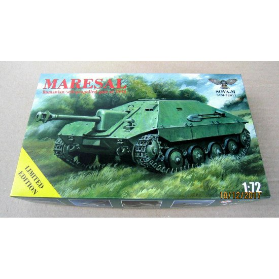 "Sova Model - Tank destroyer ""Maresal"" SM72011 1/72 scale model kit, Length 80 mm"