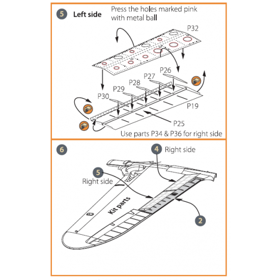 Clear Prop CPA72012 - 1/72 La-5 (all versions) PE landing flaps Photo etched