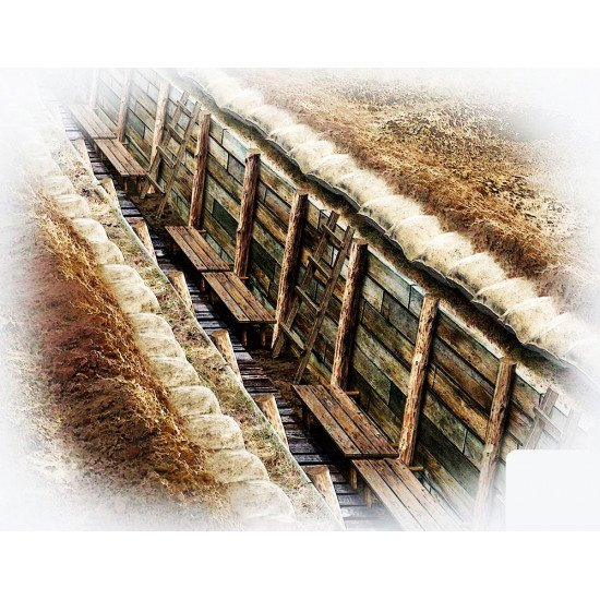 Master Box 35174 - The trench. WWI and WWII era 1/35 scale