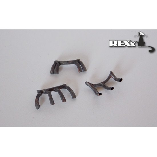 Exhaust Pipes for A6M5 Zero Airplane Hasegawa 1/48 REXx 48029 Branch Pipes